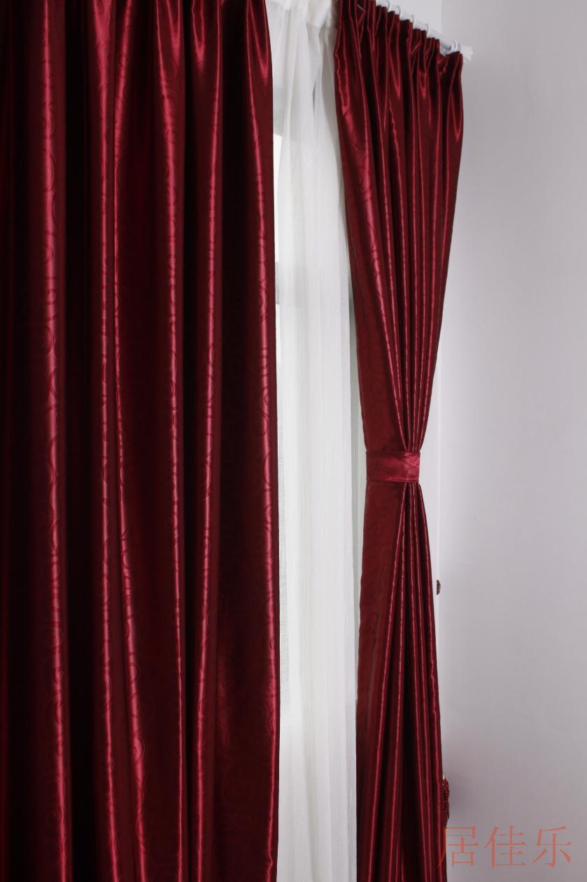 窗帘 素材 酒红色