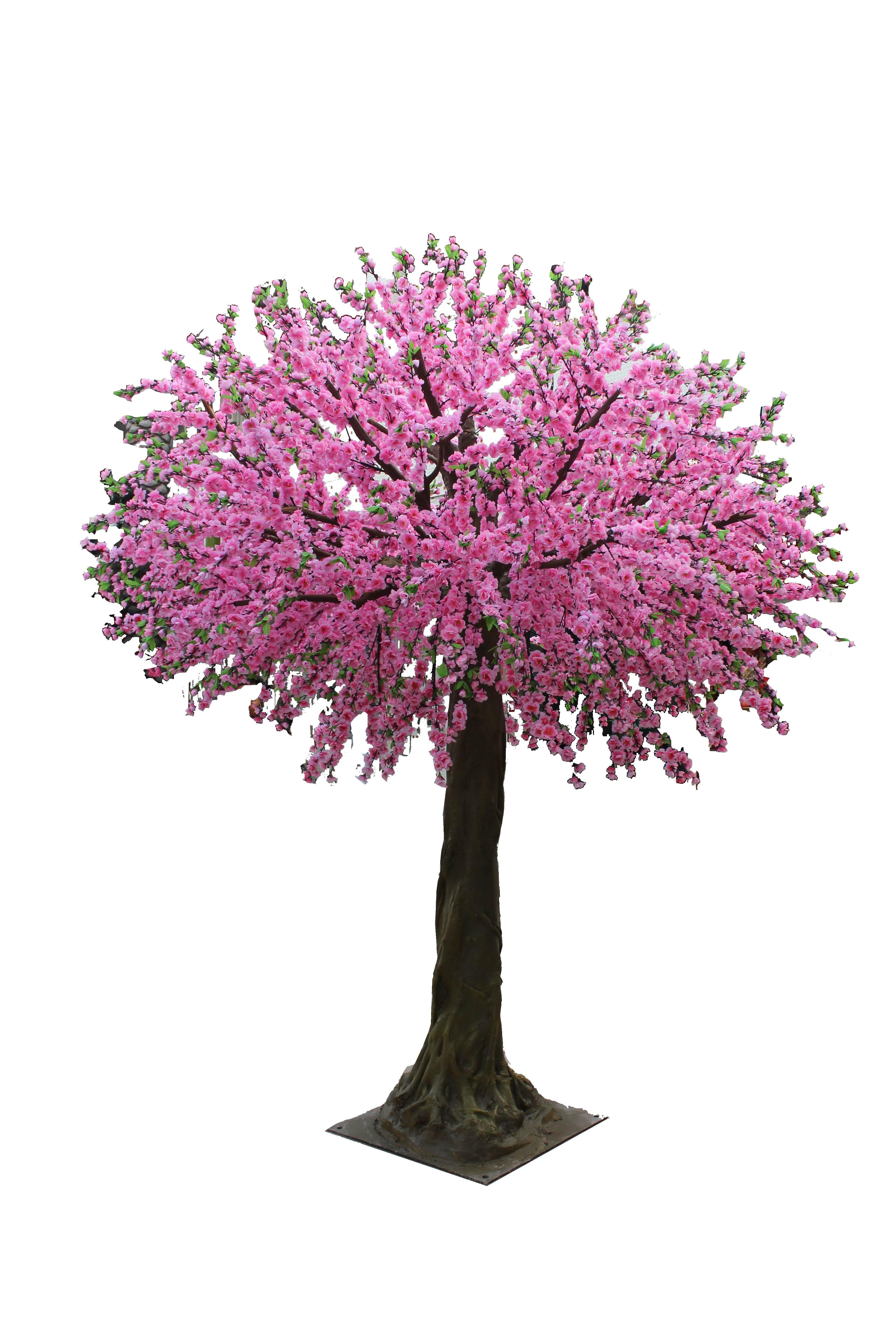 广州跨界人造假桃花树厂家生产