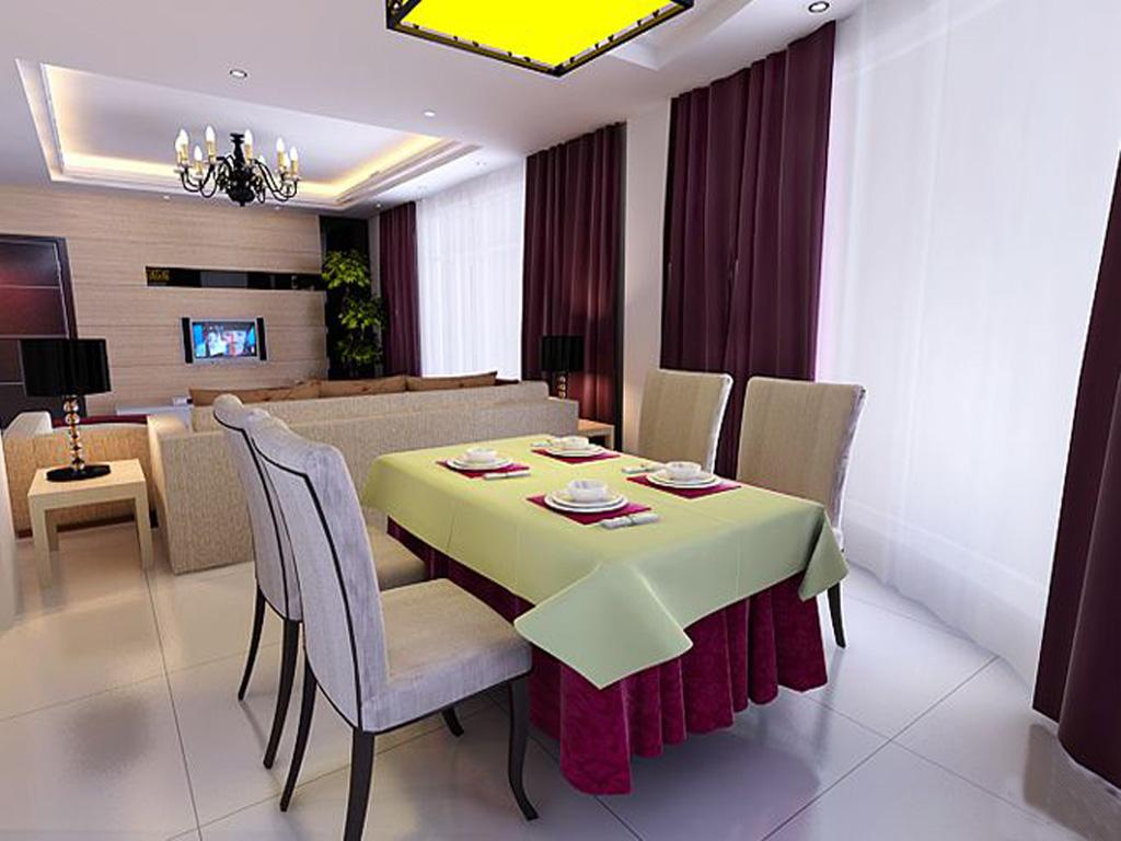 公寓式客饭厅 客厅 效果图,家装效果图,装修效果图,室内设计