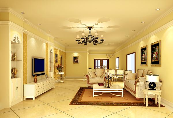 黄石花园 客厅 效果图,家装效果图,装修效果图,室内设计效果