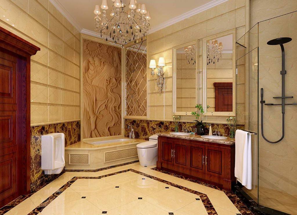 公寓式客厅 卫生间效果图,家装效果图,装修效果图,室内设计