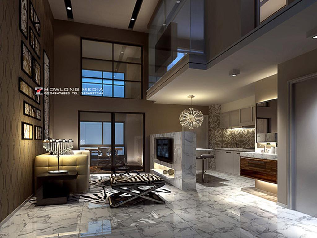 阁楼客厅效果-客厅 ,家装效果图